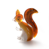 Colored Glaze Handcrafted Art Glass Figurines of Animals Crystal Ornaments for Home Office Art Craft Gifts Wholesale