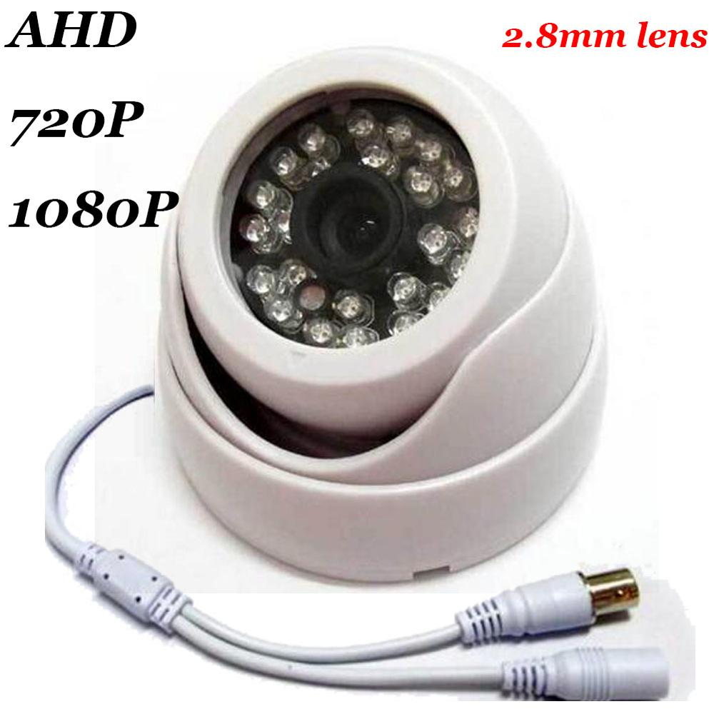 AHD 720P HD 1.0MP CCTV Security Camera 2.8mm lens Indoor Dome 24 IR Night Vision Plastic 2.0MP 1080P AHD Camera hd 1mp ahd security cctv camera 720p indoor dome ir cut 48leds night vision ir color 1080p lens