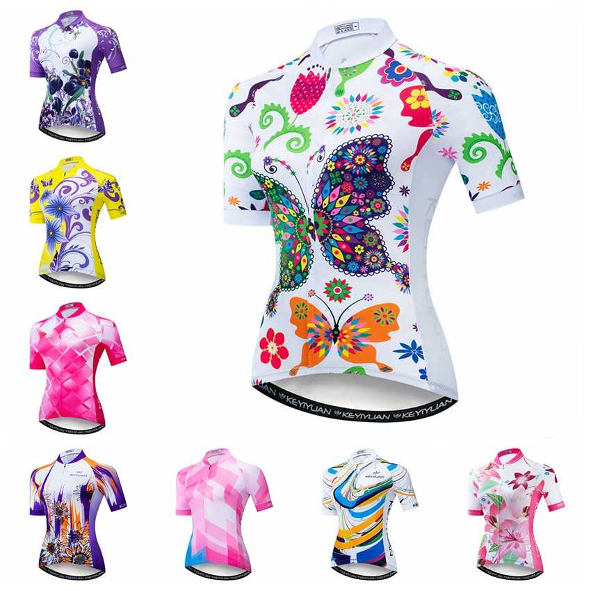 2019 Cycling Jersey women Bike Jerseys road MTB bicycle shirts Ropa Ciclismo maillot Racing tops breathable girl cycle top White