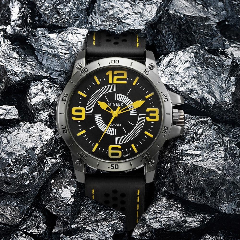 Digitale Uhren Herrenuhren 2018 Heißer Verkauf Männer Sport Uhr Mode Silikon Militärische Wasserdichte Uhren Sport Analog Quarz Armbanduhr Stunden Uhr Relogio Ma