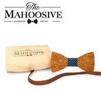 MAHOOSIVE Wooden Bowtie Neck bow Ties for Men corbata Gravatas accessories corbatas noeud papillon para hombre butterfly