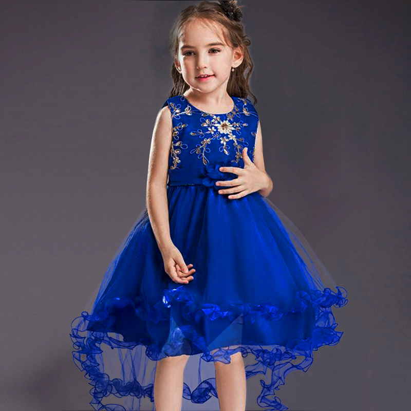 High-Quality-Girls-Sleeveless-Princess-Children-flower-girl-dress-For-Wedding-2-12-Years-Girls-Trailing-Party-Prom-Dresses-5
