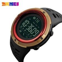 SKMEI العلامة التجارية جديد الرجال الذكية الرياضة ووتش بلوتوث السعرات الحرارية عداد الخطى الأزياء الساعات الرجال 50M للماء ساعة رقمية ساعة اليد