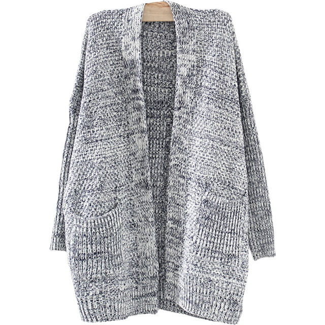 5e26e9816f 2016 Spring fall sweater women long knitted cardigan jacket Western style bat  sweaters coat female foreign