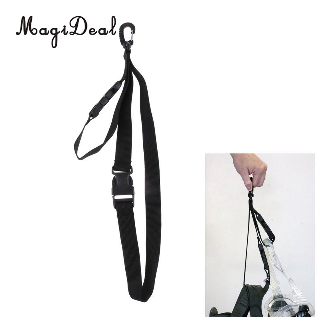 """Strong 1/"""" Webbing Keeper Lanyard Retainer Strap /& Clip Hook for Scuba Diving"""
