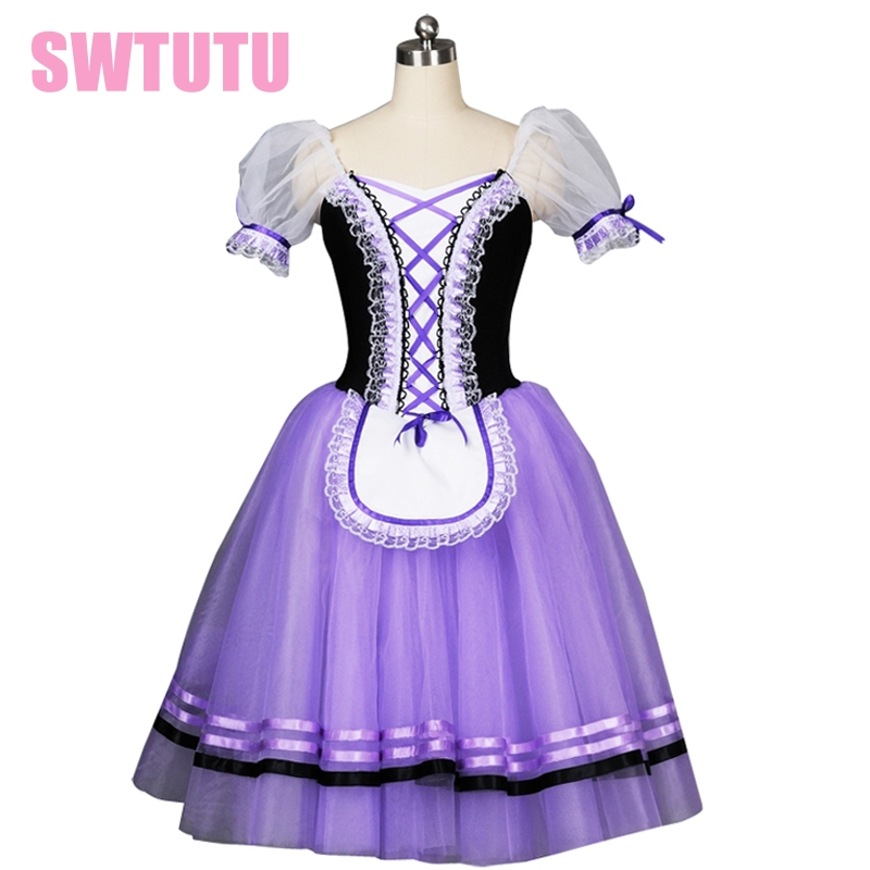 ٩(^‿^)۶Púrpura romántico ballet tutú profesional Giselle Ballet tutu ...