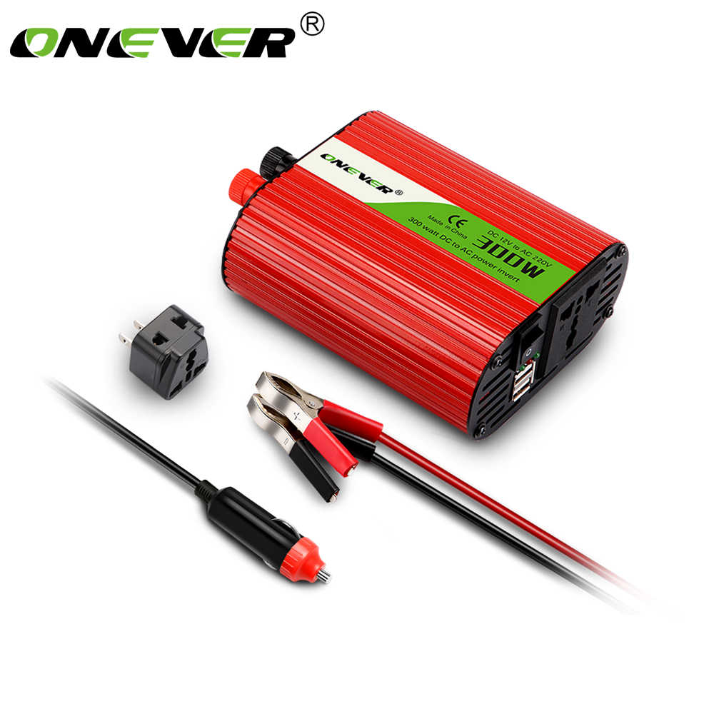 300W Car Power Inverter Converter adapter DC 12V to AC 220V Modified Sine Wave Power Dual USB charger Car-styling
