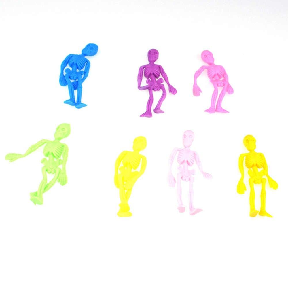24 個おかしい TPR 頭蓋骨モデル人形人間スケルトンのおもちゃハロウィン装飾玩具新