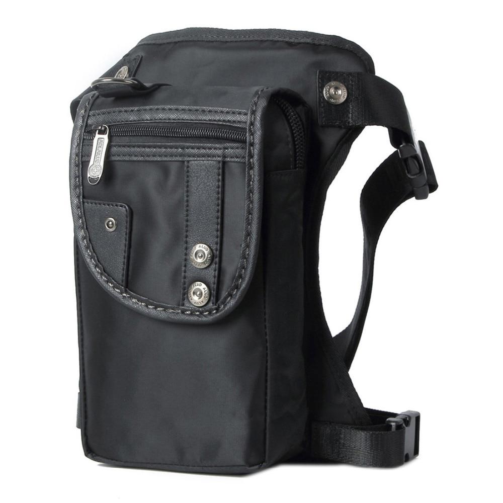Vīriešu Nylon / Canvas kāju somas vidukļa Fanny Pack kniedes Drop Belt Hip Messenger plecu Travel Motocikls daudzfunkcionāls uzbrukums Bag
