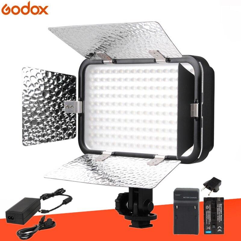 Godox LED170II Hot Shoe Mount Continuous Portable Video LED Panel Lights for DSLR DV Camera Color