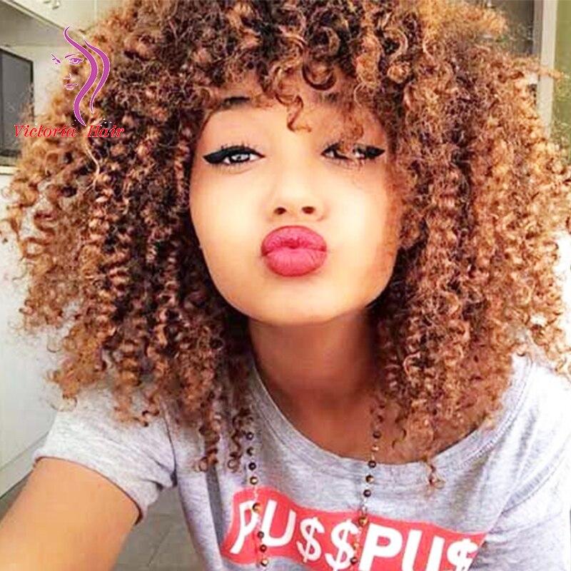"1//4 7-8/"" BJD Doll Wig Auburn Golden Brown Curly Curls Wavy Hair Long Gorgeous P7"