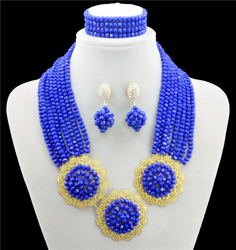 royal blue african beads jewelry set jewelry sets african necklace costume jewelry set nigerian wedding african jewelry set african symbolism