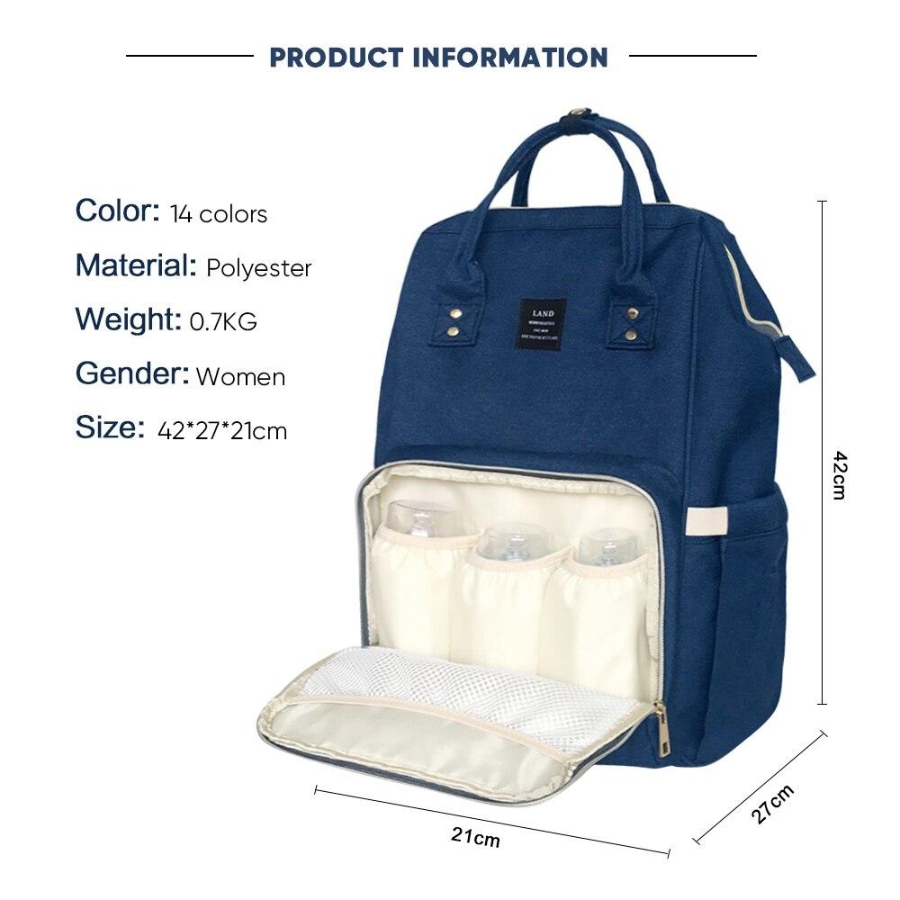 HTB1hOV2bEjrK1RkHFNRq6ySvpXaj LAND New Baby Diaper Bag Fashion Mummy Maternity Nappy Bag Large Capacity Baby Bag Travel Backpack Designer Nursing Bag