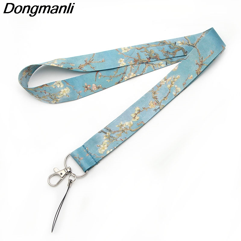 M1442 DMLSKY Van Gogh's Branches Of An Almond Tree In Blossom Mobile Phone Rope/ Key Lanyard Neck Straps Accessories