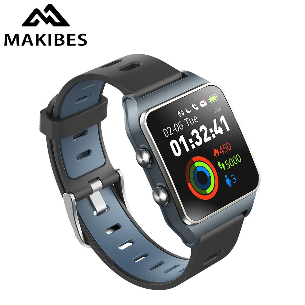RU/DE/ES in magazzino! Strava Makibes BR3 degli uomini GPS Smart orologi SmartBand IP68 Impermeabile inseguitore di Fitness per il Telefono Xiaomi MI8 IOS