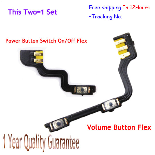 Original Volume up down control flex cable + Power on off switch keypad Flex Cable For Oneplus One 1+ FreeShipping + Tracking