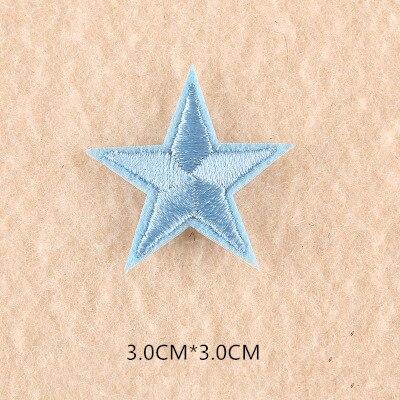 1 шт. смешанные нашивки со звездами для одежды, железная вышитая аппликация, милая нашивка эмблема на ткани, одежда, аксессуары для одежды DIY 61 - Цвет: 61S