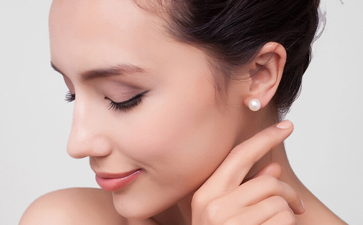 Simple Elegant 7 8mm Round Pearl Earrings Grade Aaaa Natural Freshwater For Women 925 Sterling Silver Jewelry In Stud From