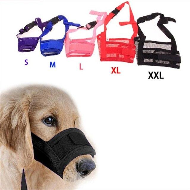 Anti Barking Cane Museruola per Piccoli Cani di Grossa taglia Regolabile Mesh Tr