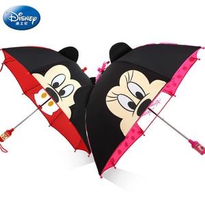 Disney Cartoon Children Umbrella Portable Mickey Minnie TriFold Umbrella Student Boy Girl Adult Sunscreen Kids Umbrella Gift(China)