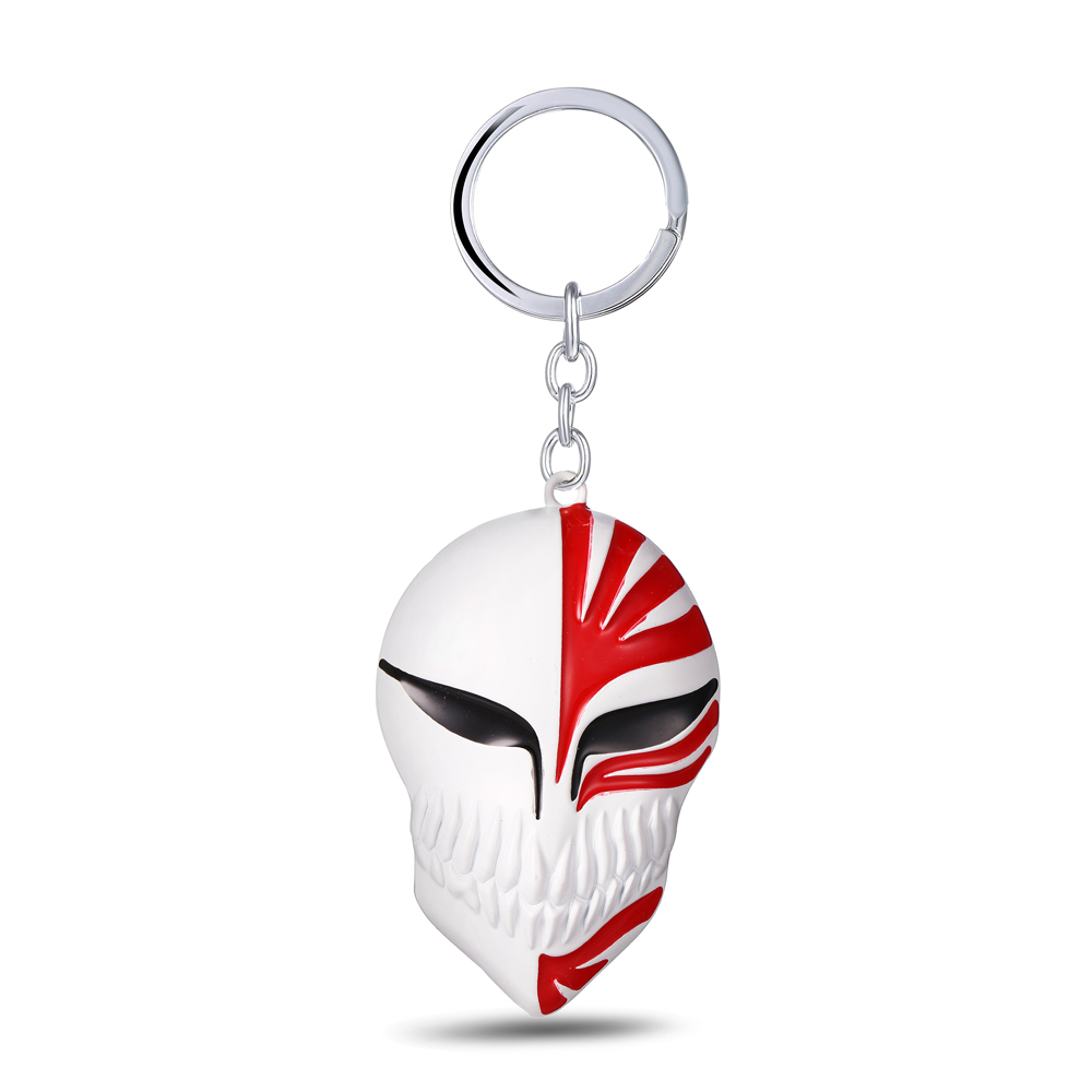 MS JEWELS Cartoon Anime Bleach Key Chain Mask Logo Metal Key Rings For Gifts Chaveiro Keychains