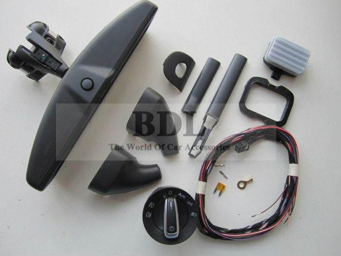 Prix pour Auto phare interrupteur + Pluie D'essuie-Glace Léger Capteur + Anti-éblouissement Gradation Rétroviseur Pour VW Tiguan Jetta MK5 Golf 6 MK6