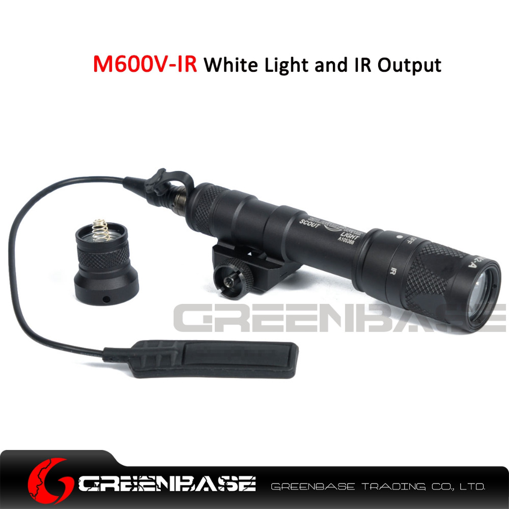 Greenbase M600V-IR Scout Light White Light and IR Output Weapon Light LED Flashlight Hunting 400 lumens Flashtorch 20mm Rail greenbase tactical m300 m300b mini scout light outdoor rifle hunting flashlight 400 lumen weapon light led lanterna