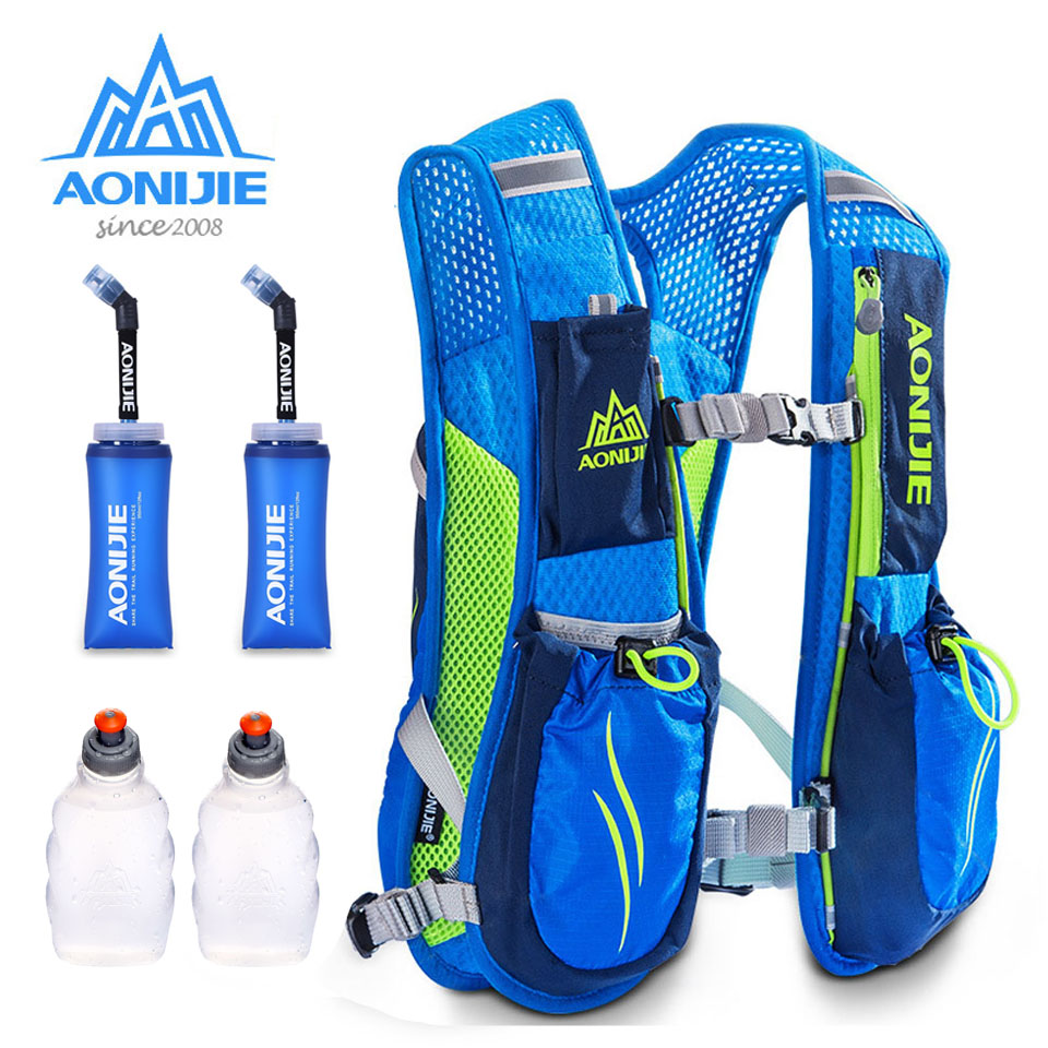 AONIJIE Running Marathon Hydration Nylon 5.5L Outdoor Running Bags Hiking Backpack Vest Marathon Cycling Backpack