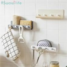 Creative Nail-Free Wall-Mounted Shelf Bathroom Strong Traceless Hook Kitchen Wall  Cabinet Organizer Rack