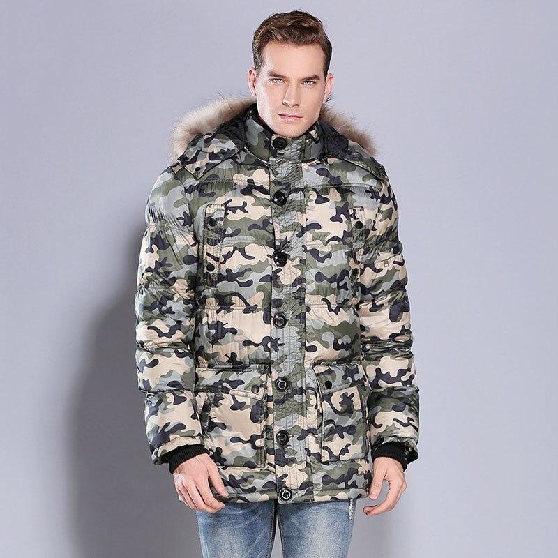 Con Giacca Cotone Vendita Inverno Di Spessore Pelliccia Grande Lunga  Cappuccio Collo Degli Da Abbigliamento Del Uomini Cappotto Caldo In Uomo ... 976e91c39c8