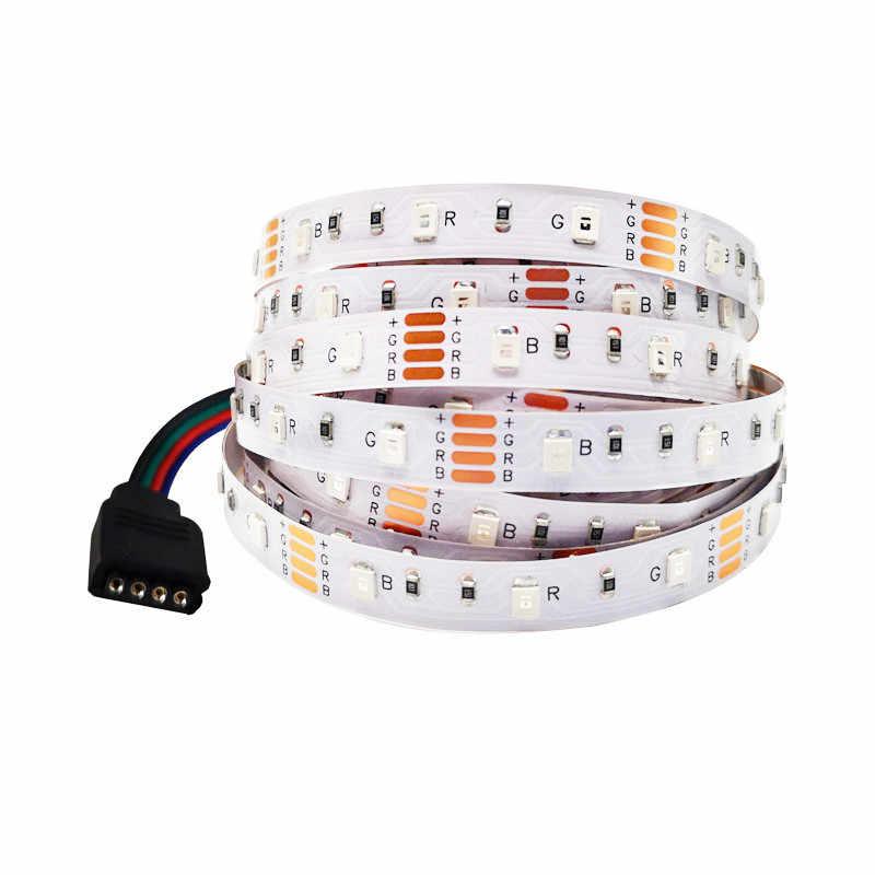 2 Buah/Banyak SMD 3528 5 V USB Kabel Power Lampu LED Strip Lampu Meja Dekorasi Lampu Tape untuk TV Latar Belakang pencahayaan 50 CM 1 M 2 M 3 M 4 M 5 M