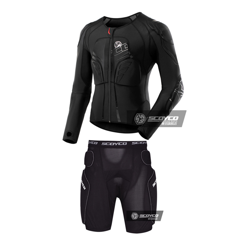 SCOYCO moto Motocross Racing armure corporelle + pantalon armure équitation équipement de protection absorbant la transpiration respirant Stretch