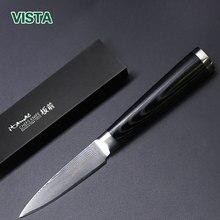 """Damaskus Messer 3,5 """"Schälmesser Japanische Küchenmesser Damaskus VG10 Edelstahl Obst Messer Ultra Scharfe Micarta Griff"""