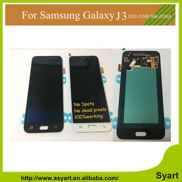 """Venda quente Grade AAA Qualidade 5.0 """"lcd completo para samsung sm-j320f sm-j320a galaxy j3 tela de toque digitador lcd conjunto do visor"""