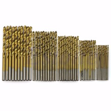Free shipping 50Pcs Titanium Coated HSS High Speed Steel Drill Bit Set Tool 1/1.5/2/2.5/3mm