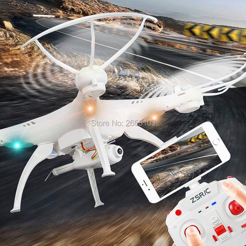 Consegna veloce Z1 O Z1W Quadcopter Una Chiave di Ritorno Senza Testa Può aggiungi WIFI FPV Videocamera HD Mantenimento di Quota Drone RC Helicopter VS X5C-1