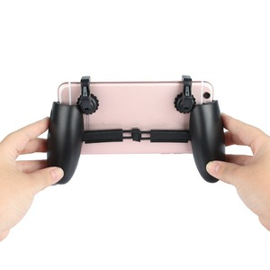Image 3 - 1 Pair Gaming Trigger Fire Button With Mobile Joysticks PUBG L1R1 Shooter Controller Mobile Gamepad For iPhone Xiaomi