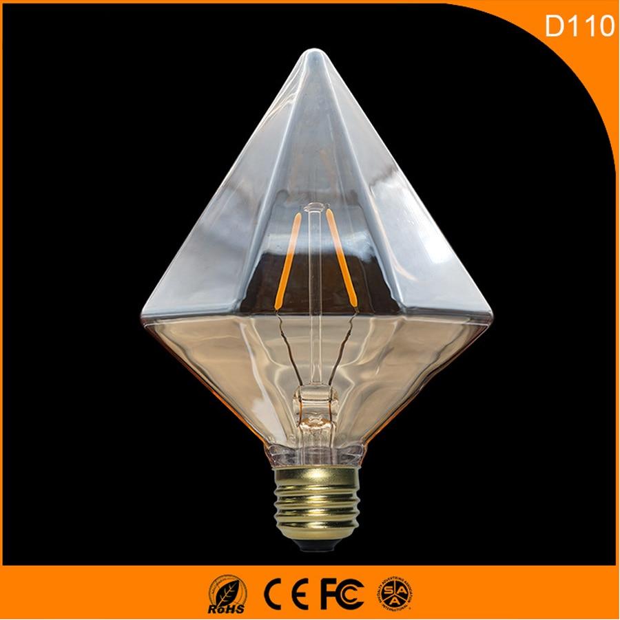 50PCS Vintage D110 Incandescent B22 E27 Led Bulb ,2W Retro Edison Light Bulb For Living Room Bedroom Coffee Bars AC 220-240V 0 5w 1 2w 10r 50pcs