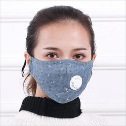 Flowers design Women PM2.5 Cotton Mask Breath valve anti-dust mouth masks Activated carbon filter respirator Mouth-muffle