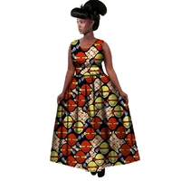2019 New African Dresses Women Bazin Riche Wax Print Plus SizeTraditional African Clothing Dashiki Sexy Africa Clothes
