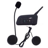 2017 New 1 Pcs V6 Pro 1200M Multi BT Interphone Wireless Motorcycle Helmet Bluetooth Headset Intercom