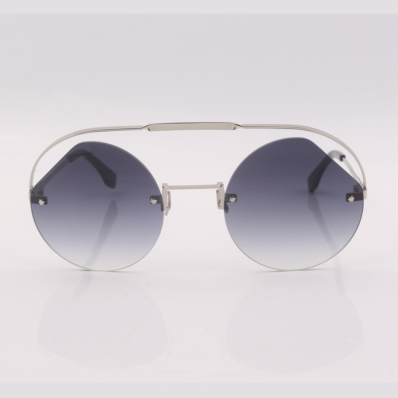 double bridge frame grey gradient lens fashion women sunglasses brand designer