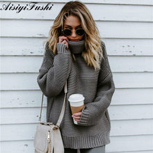 Coarse Pullover Women's Jumper Turtleneck Sweater Female Jumper Women Winter Sweater for Womens Cable Knitted Oversized Sweater