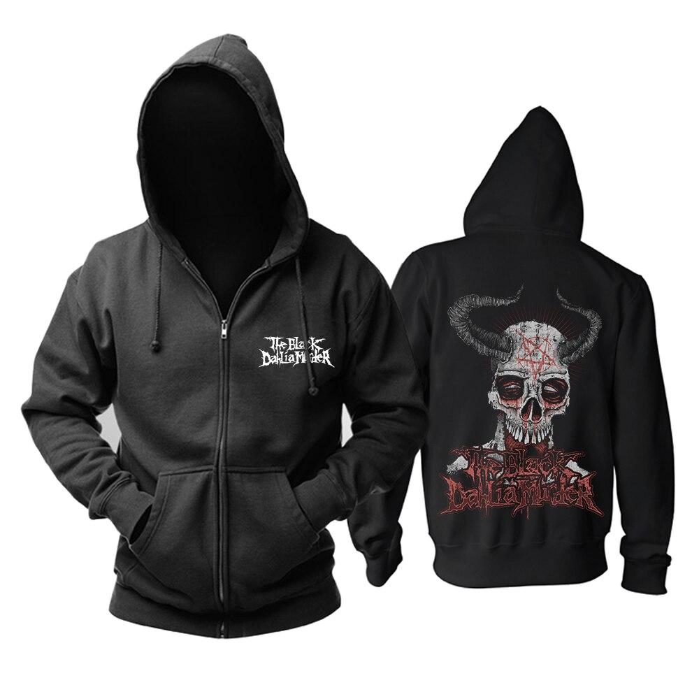 Sweat à capuche homme Hardcore Deathcore Black Dahlia groupe de Rock and Roll taille asiatique