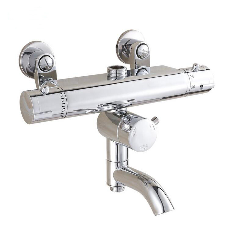 Buy Brass Thermostatic Mixing Valve Shower Faucet: Brass Thermostatic Shower Faucet Mixing Valve, Dual Handle
