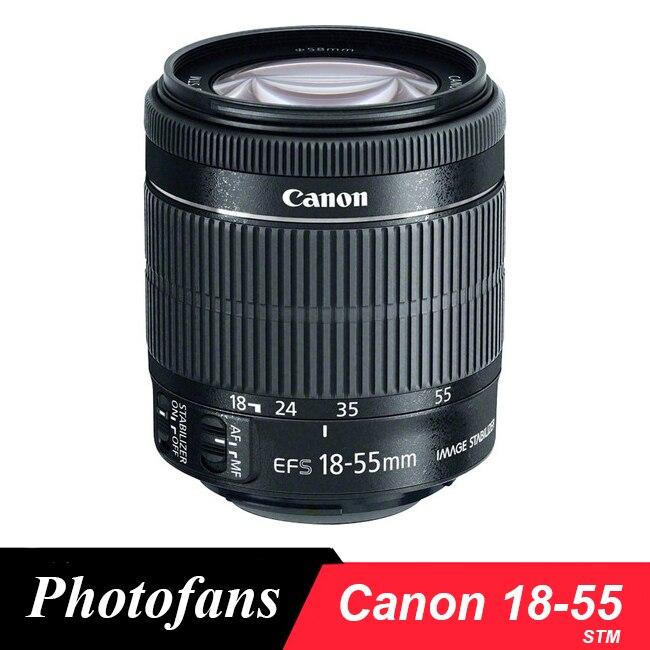 Canon 18-55 Lentille Canon EF-S 18-55mm f/3.5-5.6 EST Objectifs STM pour 1300D 1200D 600D 700D 750D 760D 70D 60D Rebelles T3i T5i T6s T6
