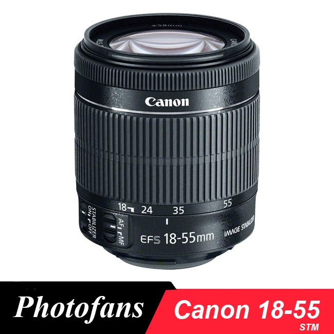 Canon 18-55 Objectif Canon EF-S 18-55mm f/3.5-5.6 IS STM Lentilles pour 1300D 1200D 600D 700D 750D 760D 70D 60D Rebel T3i T5i T6s T6