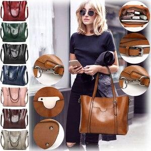 Image 2 - Женская сумка из кожи с воском, роскошная женская сумочка с карманом для кошелька, женская сумка мессенджер, большая женская сумка тоут