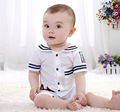 free drop shipping baby short sleeve navy style baby romper infant rompers boy's girl's Wear cotton baby Romper baby clothes