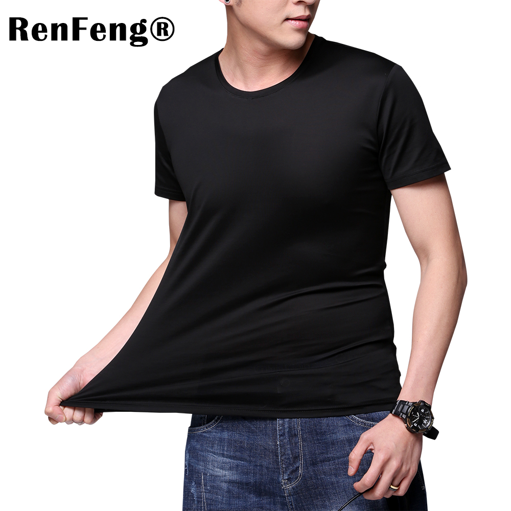 Solid color 100% Mercerized Cotton T Shirt Mens Black White T-shirts 2018 Summer Skateboard Tee Boy Hip hop Skate Tshirt Tops (2)